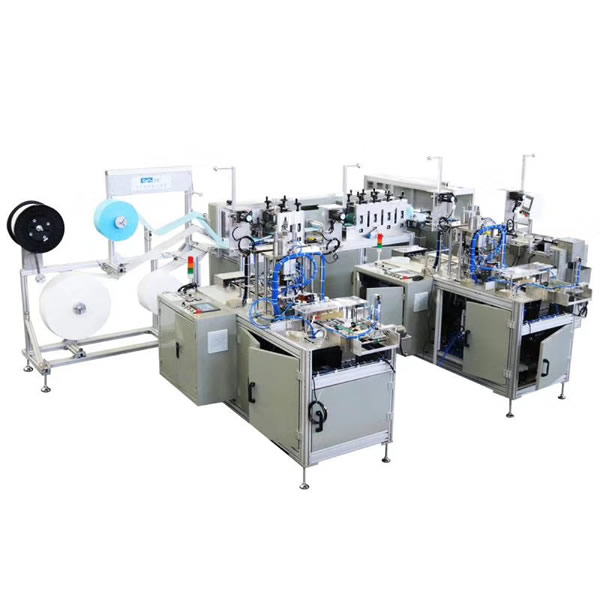 Fully Automatic One Drive Two Flat Face Mask Making Machine Surgical Face Mask Making Machine